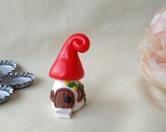 Miniature, polymer clay fairy cottage, Gift, Collectable