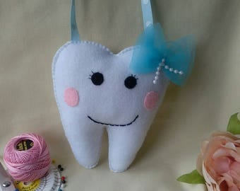 Felt tooth fairy pillow, cushion,