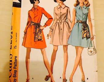 1960's vintage dress sewing pattern