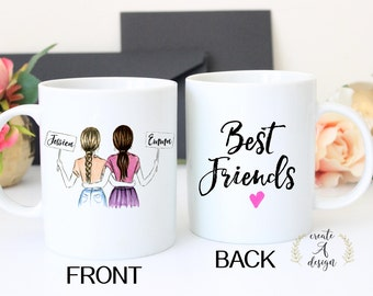 Best Friend Gift Personalized Friend Gift Mug Valentines day Gifts for her Friendship gift Best friend mug Soul Sisters gift