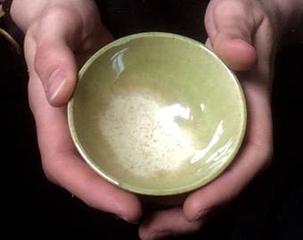Tiny green bowl