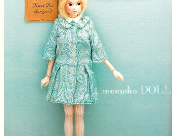 Momoko Doll E Pattern Japanese PDF Coat Dress Hat Tights