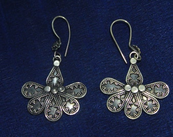 Tvasta Tribal Drop Flower Earrings