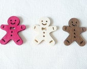 Wooden Gingerbread Man Christmas Needle Minder