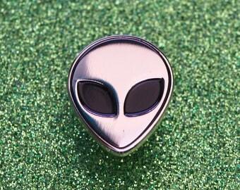 Alien Pin Badge | Space Pin Badge | Enamel Pin Badge | Soft Enamel Pin Badge | Alien Pin Badge Gift
