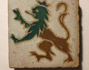 Mensaque Rodriguez Spanish Lion Tile