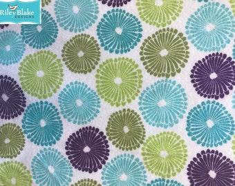 Robert Kaufman Punch Garden Retro Flannel Fabric by the yard