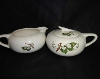 Grapevine by British Empire Ceramics // Sugar Bowl and Creamer Milk Jug Rare!
