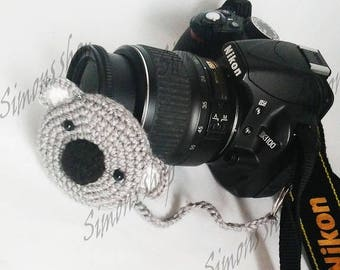 Lens cover for camera lens Photography Accessories Photographer Gifts camera lens cap lens cap leash photo accessories Koala