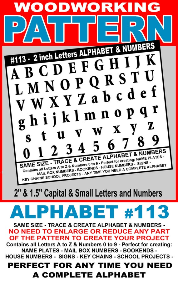 letters to numbers traceable alphabet 113 2 quot and 1 5 quot all capital amp small 23418 | il 570xN.1106834946 435f