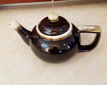 Brown Pottery Tea Pot - Not Sure of Maker