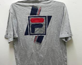 Fila Vintage 90s Rare Big Logo Hip Hop T Shirt