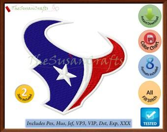 Houston TEXANS EMBROIDERY DESIGNS Pes, Hus, Jef, Dst, Exp, Vp3, Xxx, Vip