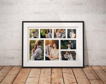 Up to 10 Pics Collage Framed Fine Art Print Anniversary Print Wedding Fine Art Print Giclee Print Custom Wedding Print Artistic Print Photos