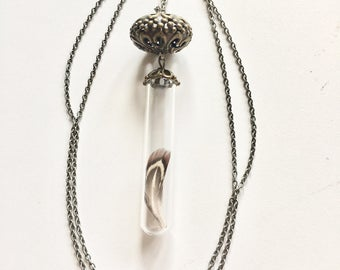 Soar. Glass bottle necklace