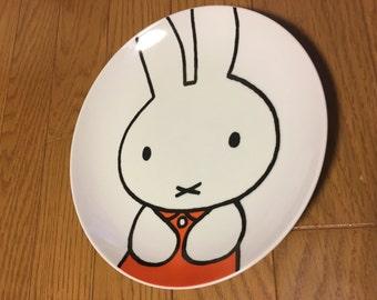 Glass bunny etsy - Miffy lamp usa ...