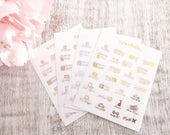 Functional Foils | Foil mini icon planner stickers