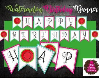 WATERMELON BIRTHDAY BANNER