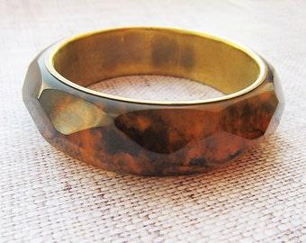 Sister Gift for her Gift for nephew imitation Amber Bracelet amber Bangle bracelet Gold stacking bangle Vintage bracelet gold bangle