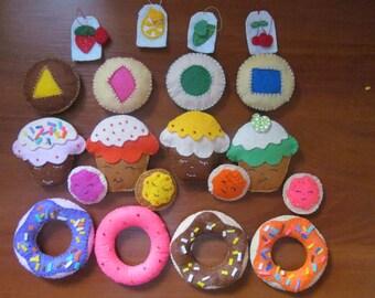 Toy food made of felt