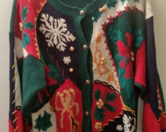 END of WINTER SALE! Ugly Christmas sweater season, get your tacky party Cardigan here!