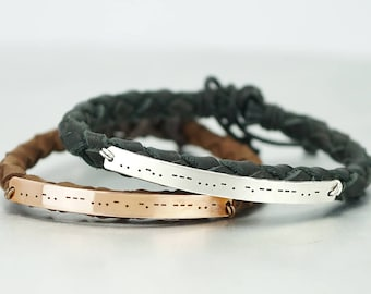 I Love You Morse Code Bracelets of 2, Matching Couple Bracelets, His and Her Bracelets, Secret Message, Anniversary Gift, Wedding Gift