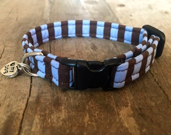 Striped dog collar (small 3/8'')