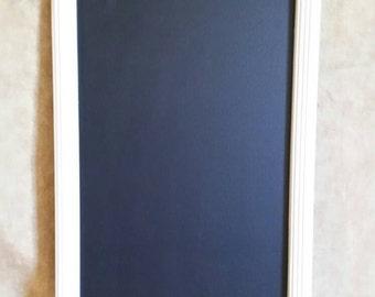 Wooden antique white chalkboard