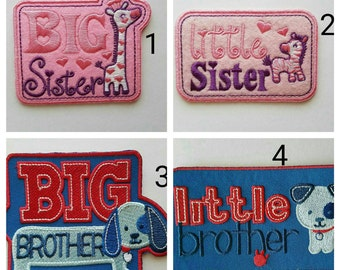Big sister patch, Little sister patch, Big brother patch, little brother patch