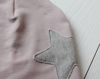 Soft Spring Cap-beret girl/adulto with silver glitter star application soft cotton Sweatshirt