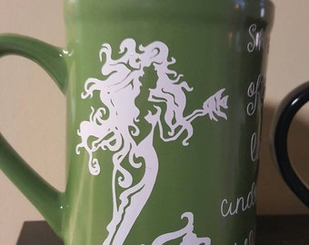 Mermaid coffee cup