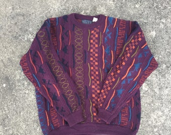 Vintage Coogi Style Cosby Style Sweater (Size L)  Ugly Sweater Biggie Smalls Tupac Mezzo Cosby Show A Different World Sweater