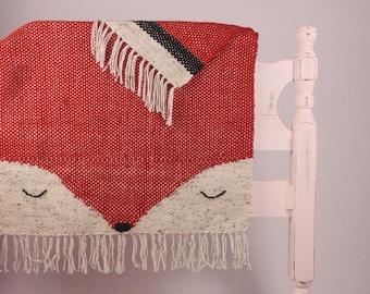 Hand Woven Woodland Fox Blanket
