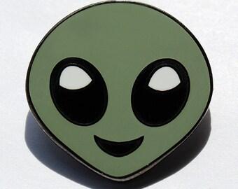 Alien Emoji – Enamel Pin For Your Life