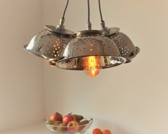 Modern Chandelier Colander plus LED Filament Lamps