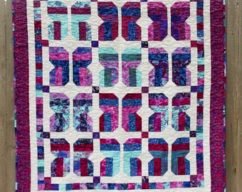 Butterfly Quilt, Quilted Throw, Sofa Quilt, Lap Quilt