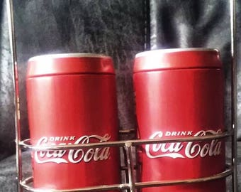 Coca-Cola Tin can salt and pepper shakers
