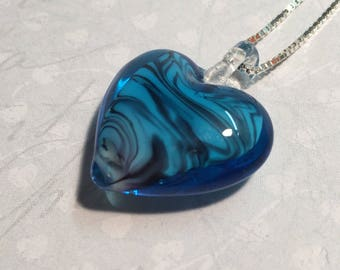 Pendant mind Murano and Venetian chain Silver 925/1000.