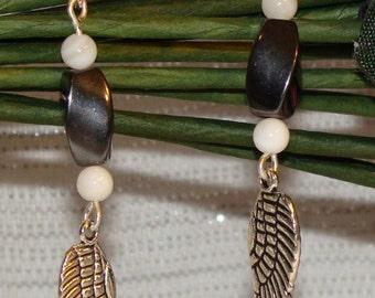 Hematite Wing Earrings
