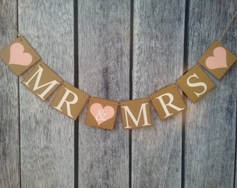 mr and mrs banner, wedding sign, wedding banner, engagement banner, mr & mrs, wedding photo prop, wedding backdrop, rustic wedding decor