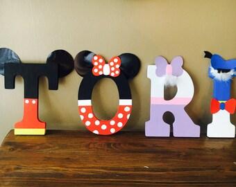 Handpainted Disney Inspired Letters