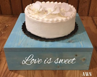 """18""""x18"""" Rustic Wood Cake Stand, 18 inch Rustic Antique Cupcake Stand, Cupcake Stand, Cake Stand, Country Wedding, Wood Cake Stand, Wedding"""