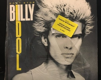 ON SALE Vintage 1981 Billy Idol Dont Stop Vinyl Record Excellent Condition