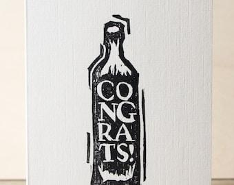 Congratulations Woodcut Greetings Card