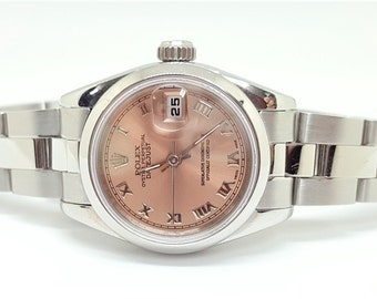 Ladies 1987 Rolex Oyster Perpetual Datejust Bronze Dial Oyster Band Wrist Watch M#69160