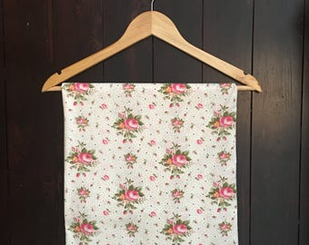 1950's Fab Floral Rosy Posy Print Cotton !!!