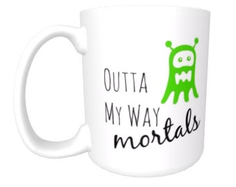 office space coffee mug. humor funny office mug 11 oz 15 ceramic coffee cup outta my space mug
