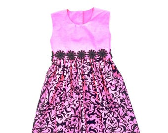 Toddler Girls Dress, Sz 2, Girls Party Dress, Girls Bow Dress, Girls Pink Dress, Girls Dress, Toddler Dress, Girls Clothing