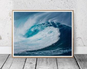 Ocean Print, Ocean Photography, Ocean Decor, Ocean Art, Ocean Water, Ocean Photo, Ocean Waves Wall Art Print, Water Print, Ocean Printable