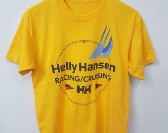 Vintage Helly Hansen Racing Cruising T-shirt/Helly Hansen Shirt/Helly Hansen Sailing Gear T-shirt Rare